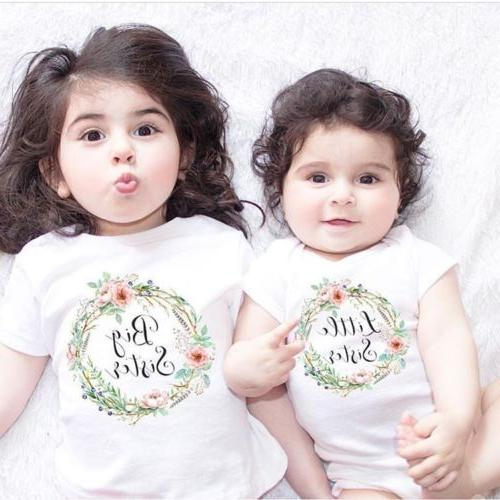US Kid Sister Matching Clothes Tops