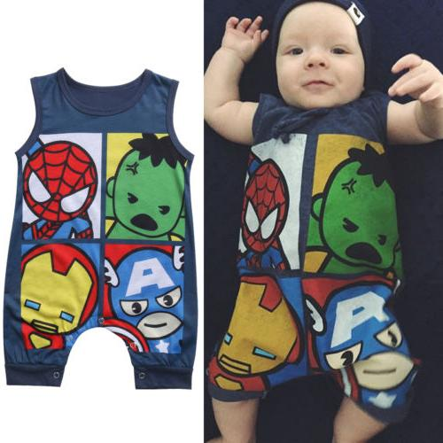 US Newborn Baby Superhero Clothes