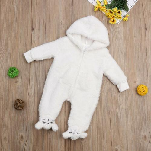 US Girl Winter Romper Warm Fur Winter