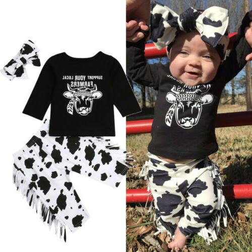 US Baby Boy T-Shirt Tassels Pants Outfits