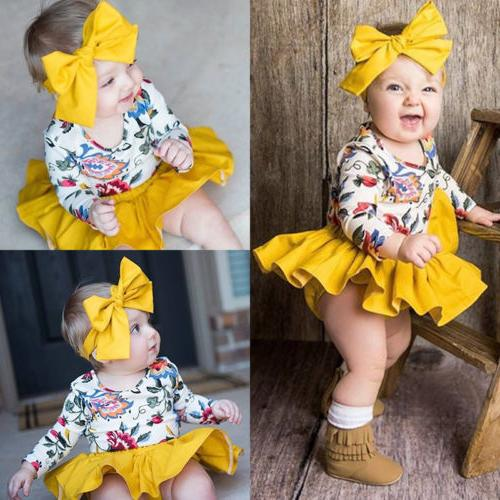 us newborn baby girl floral romper top