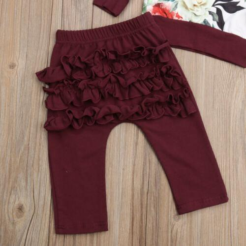 US Girls Flower Tops 3PCS Winter Clothes