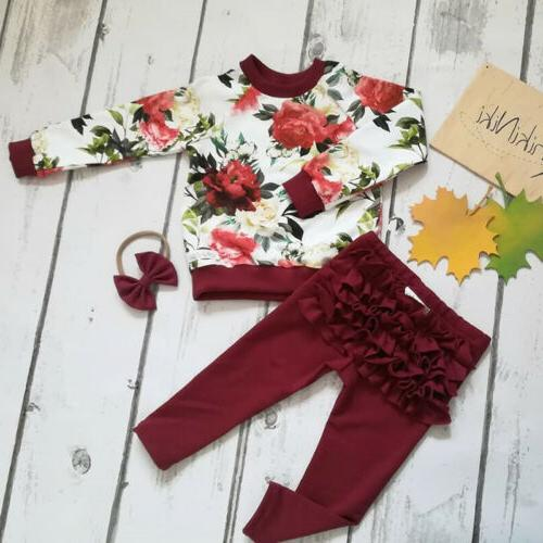 us newborn baby girls flower tops ruffle