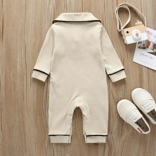 US Baby Long Bow Collar Clothes