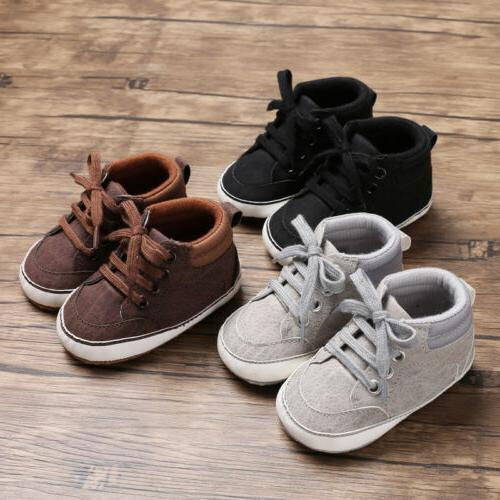 US Baby Girl First Walkers Lace-Up Sneakers Shoes
