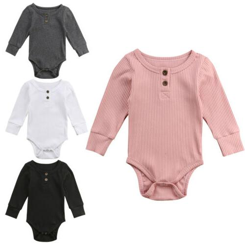 US Infant Boy Girls Jumpsuit Clothes Outfits Winter
