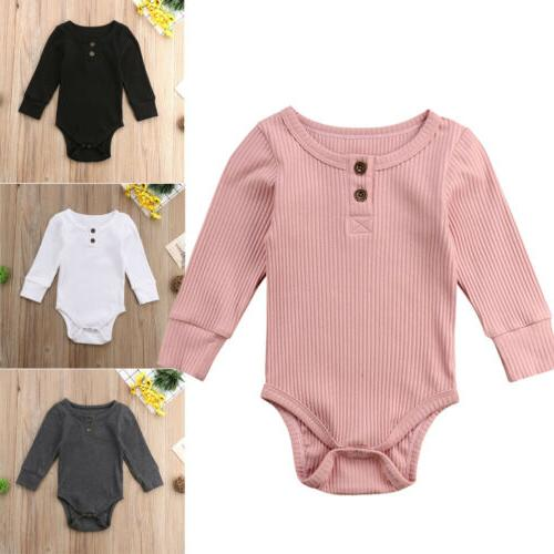 US Newborn Boy Jumpsuit Clothes Outfits Winter