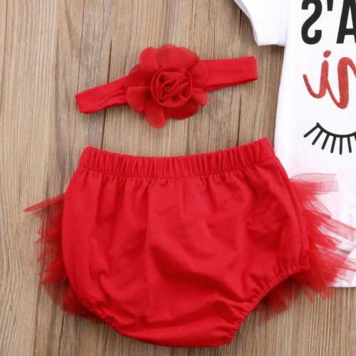 US STOCK Infant Baby Clothes Set