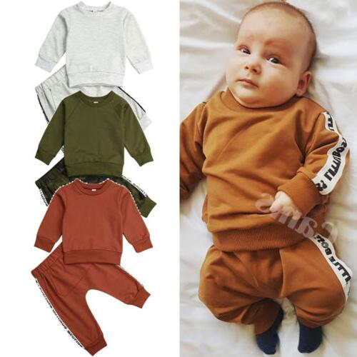 US Boy Winter Tops+Long Outfit Tracksuit