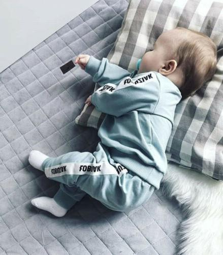 US Baby Boy Clothes Tops+Long