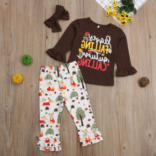 US Girls Tops T-shirt Pants Leggings Autumn Set Sunsuit