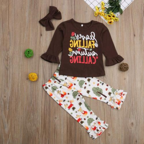 US Toddler Baby Girls T-shirt Leggings Sunsuit