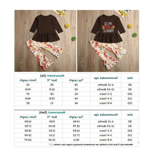 US Girl Tops Floral Pants Outfit Clothes
