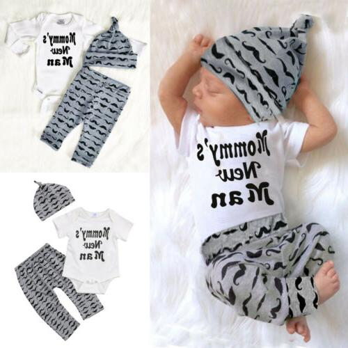 usa 3pcs newborn baby boy romper tops