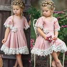 USA Easter Kids Baby Girl Dress Lace Floral Party Dress Page