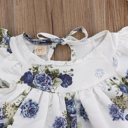 USA Baby Floral Tops Dress Pants Outfits