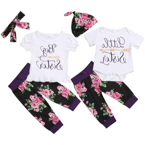 USA Little Sister Girl Romper Clothes