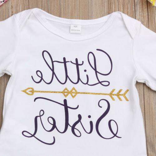 USA Little Sister Girl T-shirt Romper Clothes