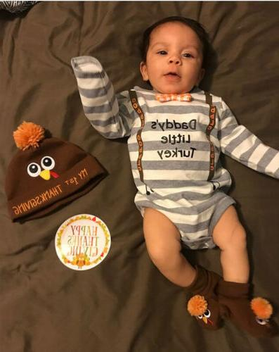 USA Thanksgiving Infant Boy Clothes Outfit