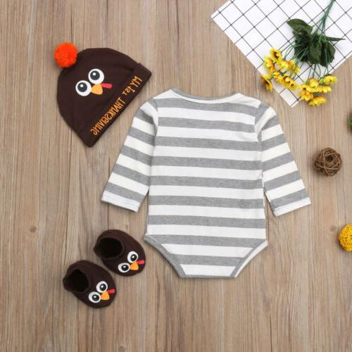 USA Thanksgiving Infant Baby Boy Clothes Outfit
