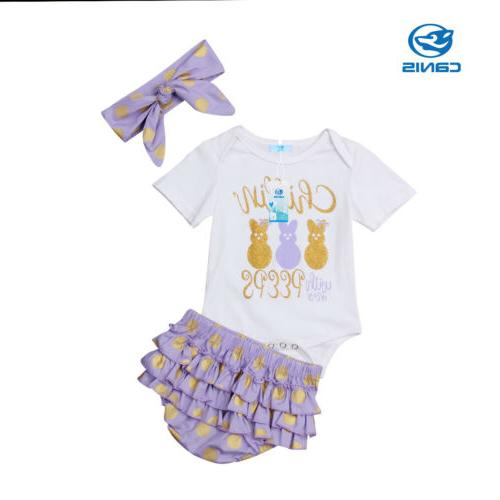 Easter Bodysuit Ruffles Pants Shorts Outfit
