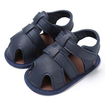 USA PU Leather Casual Summer Baby Boy Prewalker