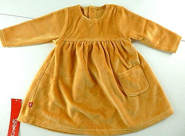 Zutano Velour Dress Infant Girls Size 12 Months Caramel Long