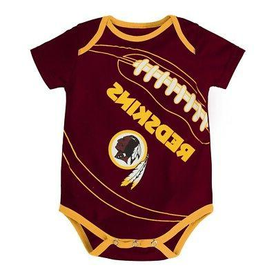 Washington NFL Infant 3 Creeper Set