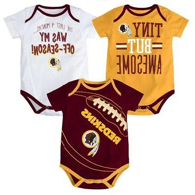 washington redskins nfl infant maroon gold white