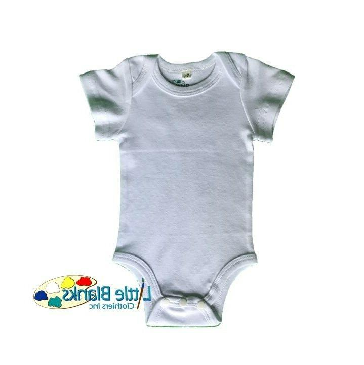 White Bodysuit, HIGH QUALITY Blank 3 6 9 12 18 24 Months M -