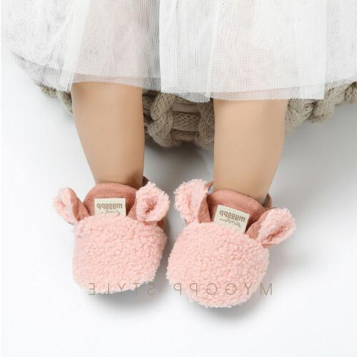 Winter Toddler Boy Girl Snow Infant Slipper Crib