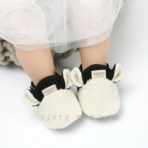 Winter Girl Boots Infant Sole Crib Shoes