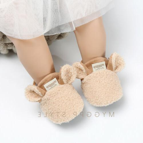 Winter Baby Boy Girl Warm Infant Sole Crib Shoes