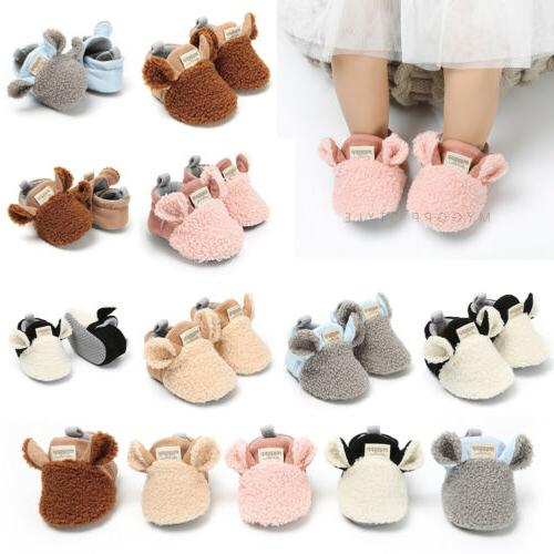 Winter Baby Boy Girl Snow Boots Infant Crib Shoes