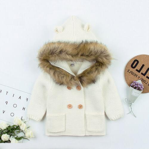 Winter Boy Hooded Coat Collar Jacket Clothes
