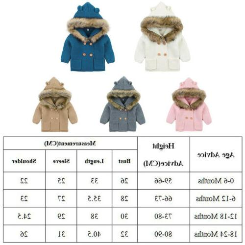 Winter Boy Girl Coat Fur Collar Jacket Clothes USA