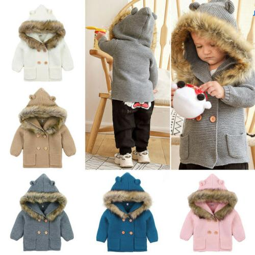 Winter Boy Girl Knit Coat Clothes