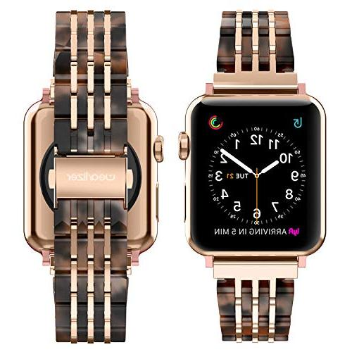 Wearlizer Apple Band 44mm Unique Strap Cool Wristband Mens with Steel Series 3 Rose
