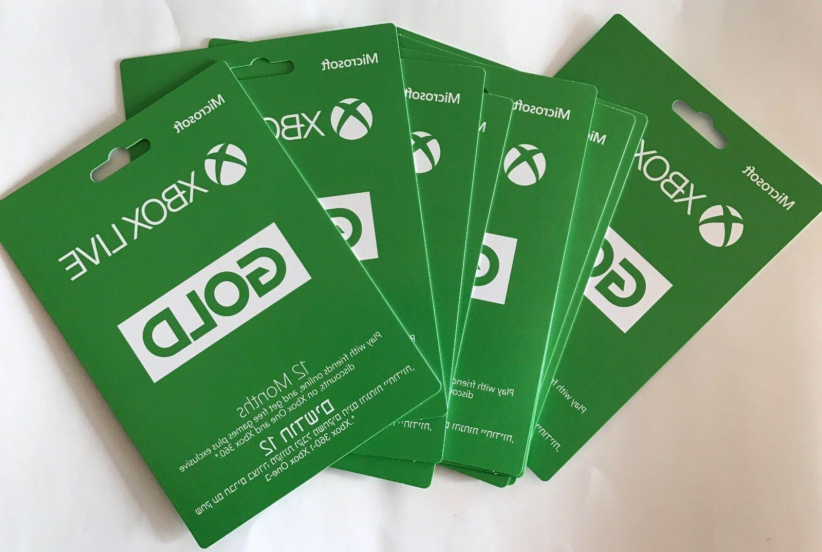 2 X Microsoft Xbox LIVE 12 Month Gold Membership Card for Xb