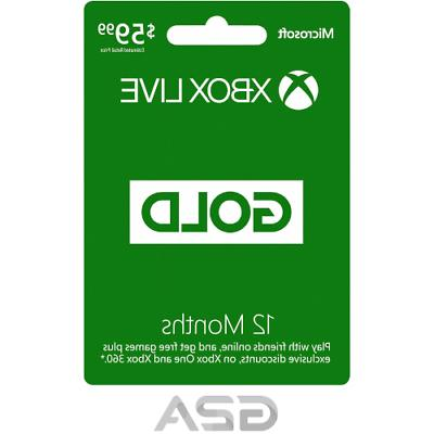 xbox live 12 month gold membership code