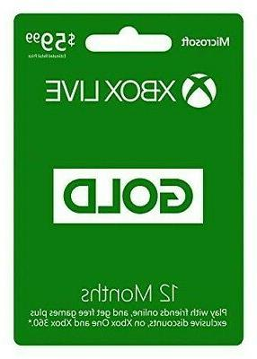 Xbox 12 Gold Fast Delivery
