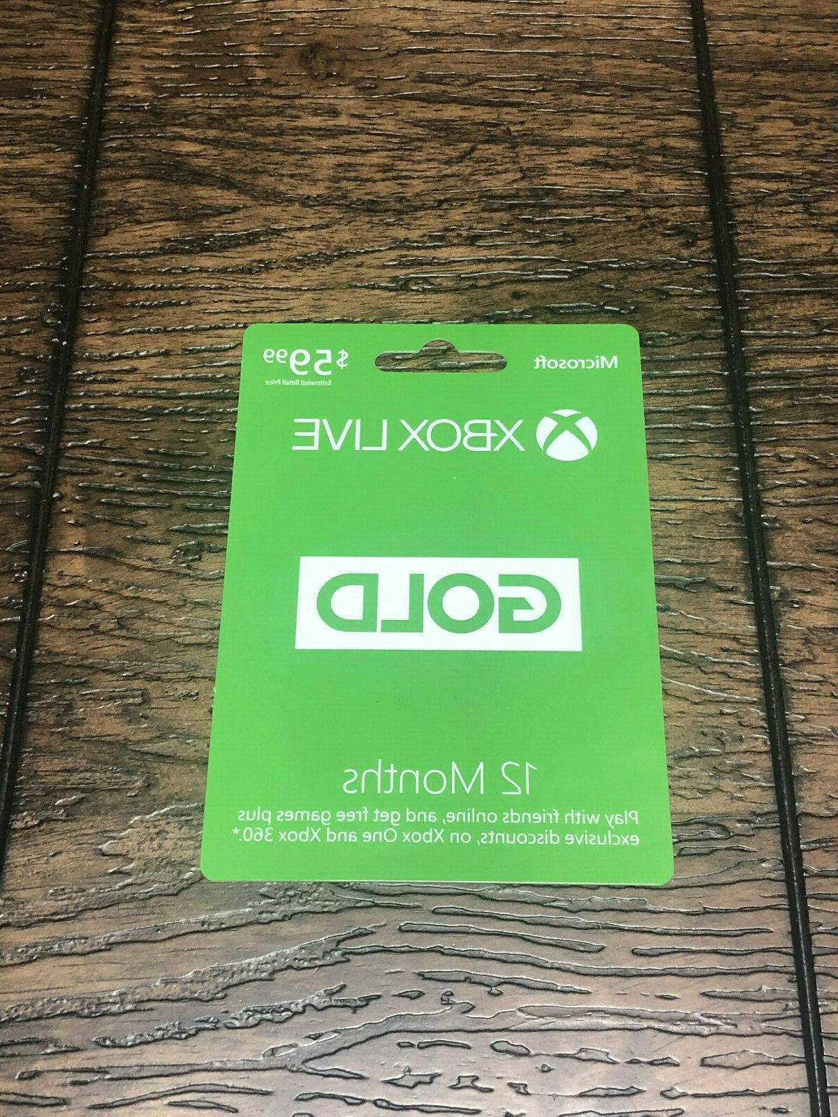 xbox live one 360 12 month gold