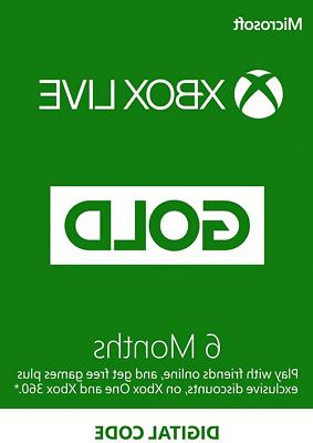 Microsoft - Xbox Live 6 Month Gold Membership Quick Delivery
