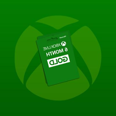 Microsoft Xbox 6 Month Gold Quick