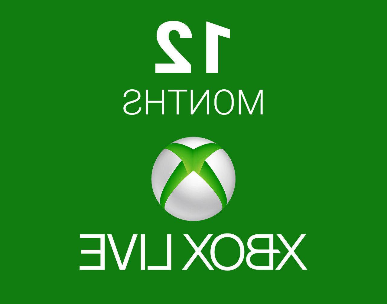 xbox one 360 12 month live gold
