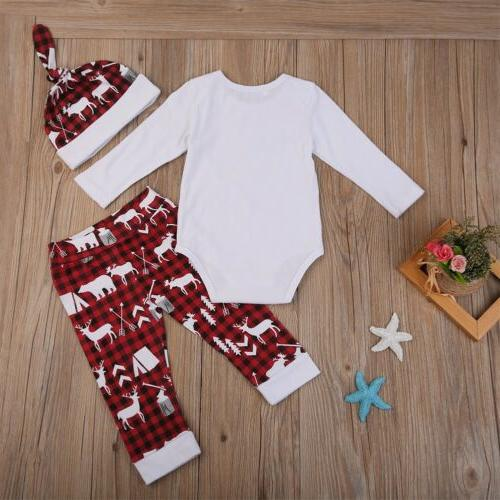 XMAS Girls Tops Romper+Long