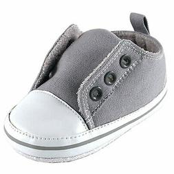 Luvable Friends Laceless Sneaker , Gray, 6-12 Months M US In