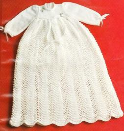 LACY CHRISTENING DRESS birth to 12 months / 3ply - COPY baby