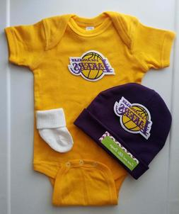 Lakers infant/baby outfit Lakers baby shower gift Lakers inf