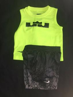 NIKE LEBRON JAMES BABY BOYS MUSCLE SHIRT SHORTS SET OUTFIT 1